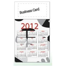 Blank PSA Business Card Magnet w/Attached 12 Point Calendar